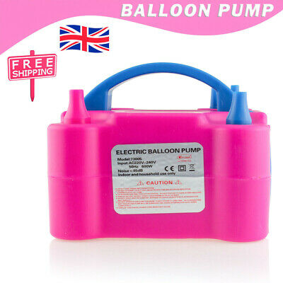 £15.99 • Buy Portable 600W Electric Balloon Pump Inflator Air High Power Blower Party UK PLUG