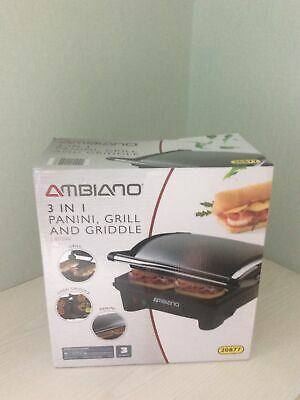 £17.50 • Buy BNIB Ambiano 3 In 1 Panini, Grill & Griddle Product Code: 20877