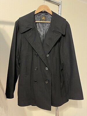 $700 • Buy Lost Worlds Pea Coat Black Camel Hair Size 44