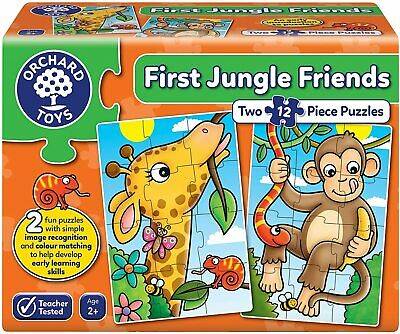 £10.55 • Buy Orchard Toys First Jungle Friends Jigsaw Puzzle (2x 12-Piece)