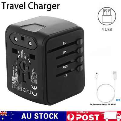 AU9.19 • Buy Travel Universal Portable Adapter 4 USB All-In-One International Travel Charger