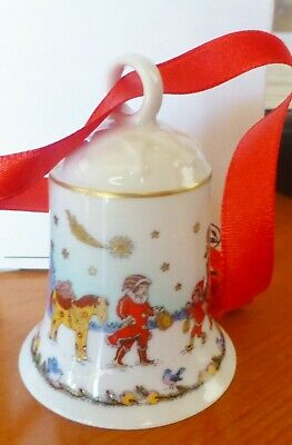 £6.65 • Buy HUTSCHENREUTHER 2003  In The Northern Woods  CHRISTMAS Ornament BELL PORCELAIN