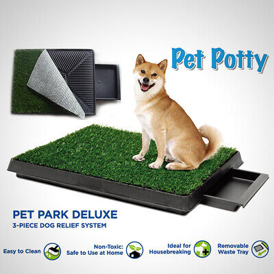 £27.99 • Buy Large Dog Toilet Mat Indoor Potty Puppy Trainer Grass Litter Tray Pad Restroom