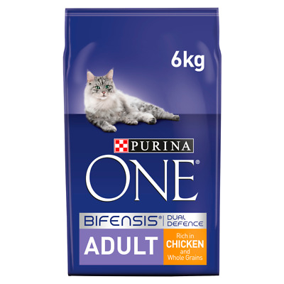 £29.80 • Buy Purina ONE Adult Chicken And Whole Grain Dry Cat Food - 6kg