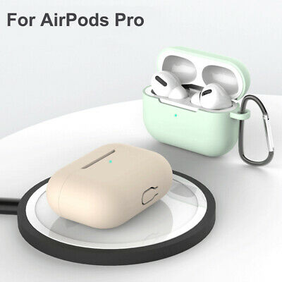 $ CDN3.76 • Buy For Apple AirPods Pro Case Silicone Cover Skin W/ Keychain Earphones Accessories