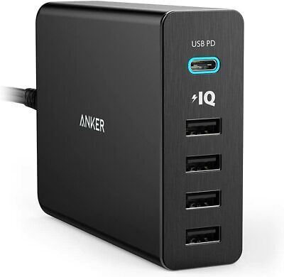 AU71.99 • Buy Anker USB Type-C 5-Port 60W Wall Charger Powerport+ 5 USB-C With Power Delivery-