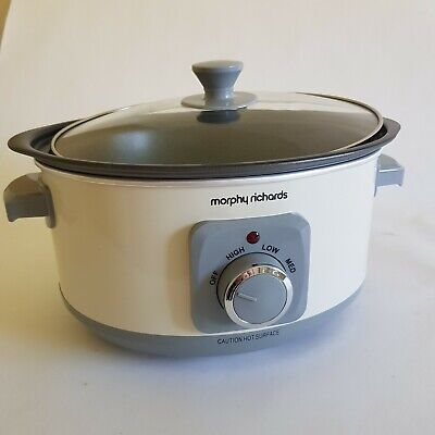 £24.50 • Buy Morphy Richards Sear And Stew 3.5L Slow Cooker 460013 Ivory Cream 163W