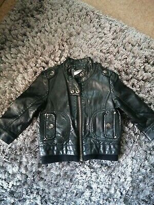 £3.59 • Buy Boy Faux Leather Jacket 12-18 Months