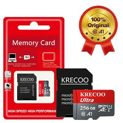 $9.29 • Buy 256GB Micro Memory SD Card Fast 4K Class10 A1 280MB/S Flash TF Card With Adapter