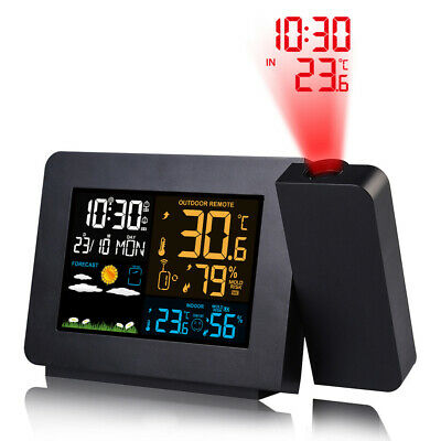 £27.99 • Buy LCD LED Digital Projection Display Alarm Clock With Temperature Weather Station