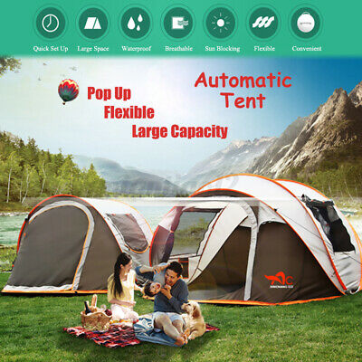 $ CDN116.06 • Buy 5-8 Persons Camping Setup Tent Waterproof Automatic UV Protection Family Travel