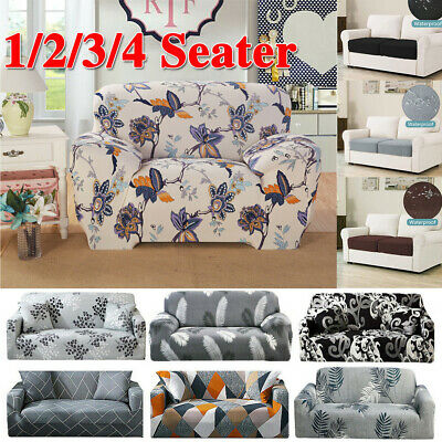 AU16.99 • Buy 2 3 4 Seater Stretch Sofa Cover Couch Lounge Recliner Chair Slipcover Protector