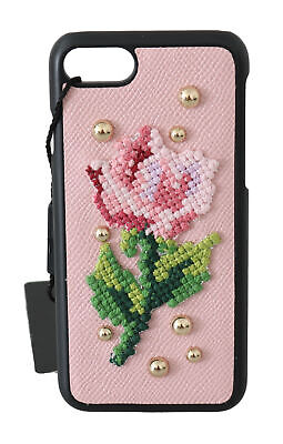 £157.32 • Buy DOLCE & GABBANA Phone Case Cover Pink Flower Cross Stitch Stud IPhone 7