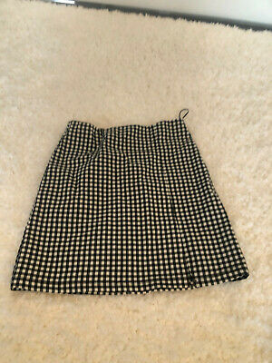 £1.20 • Buy Topshop Black And White Checked Skirt Size 6 Excellent Condition Never Worn