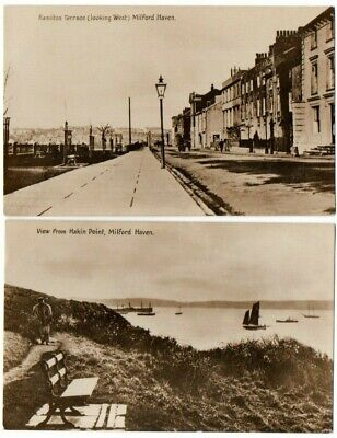 £22 • Buy Old Postcards Milford Haven Pembrokeshire Wales Real Photos Vintage C.1910