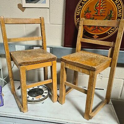 £20 • Buy Wooden School Chairs 2 Available