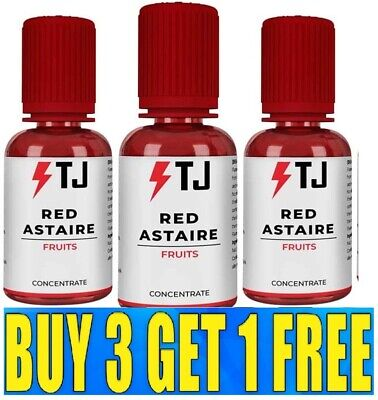 £9.99 • Buy Red Astaire 30ml Concentrate From T Juice - No Nicotine - Buy 3 Get 1 Free