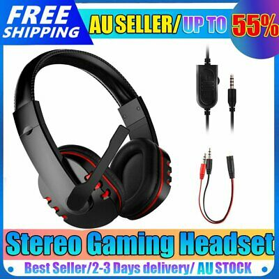 AU14.89 • Buy Durable Stereo Gaming Headset Headphone Wired With Mic For PC Xbox One PS4 AU