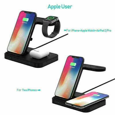 AU20.99 • Buy 15W Wireless Charger Dock Charging Stand For Airpod IPhone 11 X 8 Samsung S9 S10