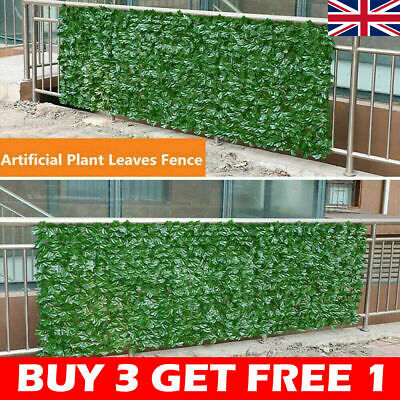£7.68 • Buy Artificial Faux Ivy Leaf Hedge Plant Panels Roll Privacy Screening  Fence Decor