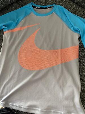 £2.50 • Buy Boys Nike Swim Top 3/4 Sleeves Uv Protection Size M Dri-fit New Without Tags
