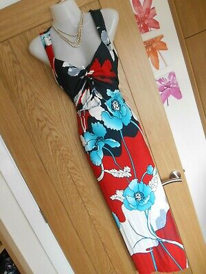 £22.50 • Buy **stunning** Phase Eight Size 10 Navy Red White Maxi Dress *fast Postage**