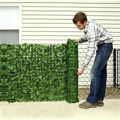 £2.09 • Buy Artificial Faux Ivy Leaf Hedge Panels Roll Privacy Screening Garden Fence Decor