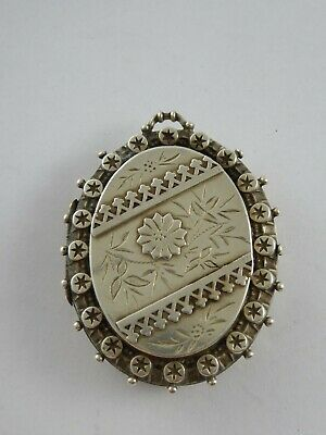 £25 • Buy Lovely Large  Antique Victorian Solid Sterling Silver Pendant Locket 1885