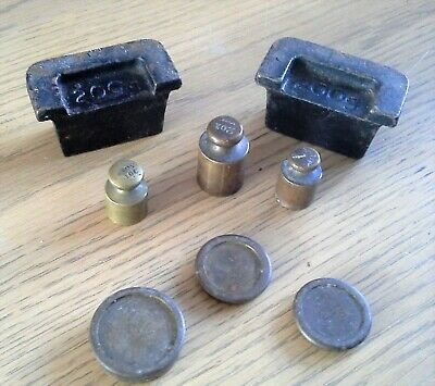 £1.99 • Buy 6 Assorted Brass Scale Weights & 2 Cast Iron Weights