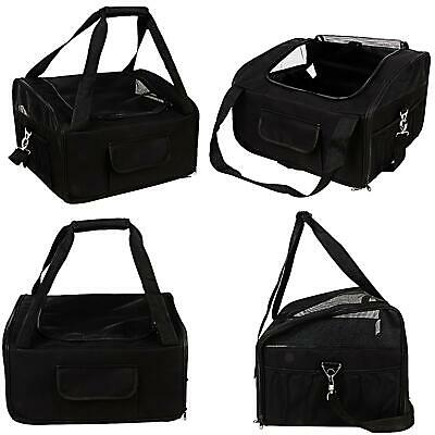 £14.99 • Buy Black Car Seat & Carrier Cat Small Dog Pet Puppy Travel Cage Bag Belt Booster