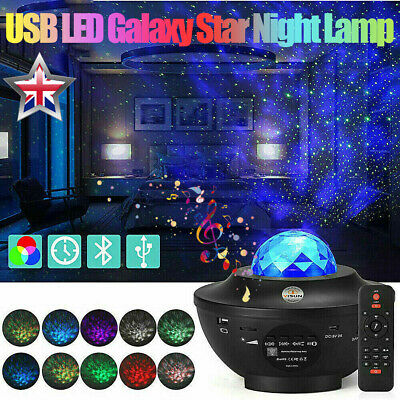 £15.38 • Buy USB Galaxy Star Night Lamp LED Starry Sky Projector Light With Ocean Wave Remote