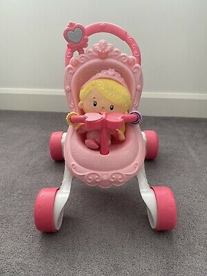£10 • Buy Fisher Price Princess Musical Stroll Along Walker And Doll