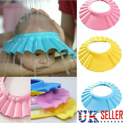 £2.99 • Buy Soft Waterproof Baby Kids Child Shower Cap For Hair Wash Bath Protect Shield Hat
