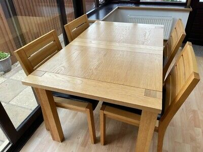 £500 • Buy Marks And Spencer Oak Dining Table And Matching Chairs In Good Condition