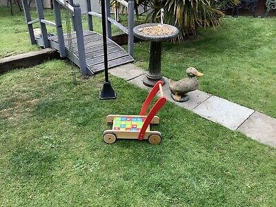 £14 • Buy Child's Push Along Trolly With Building Blocks