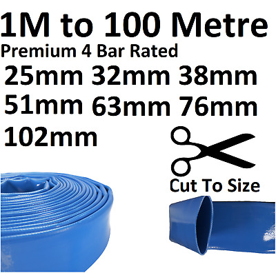 £10.44 • Buy Layflat PVC Water Delivery Hose - Discharge Pipe Pump Lay Flat Irrigation