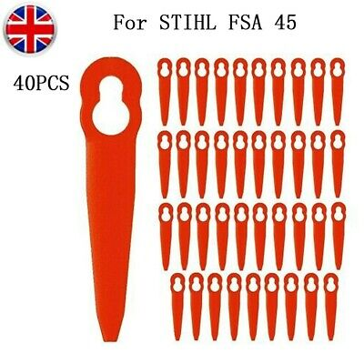 £6.66 • Buy 40x Plastic Blades Replacement For STIHL FSA 45 Cordless Strimmer Grass-Trimmer