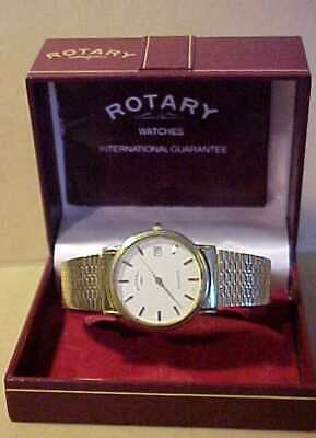 £9.99 • Buy QUALITY ROTARY GOLD PLATED WRISTWATCH - EXCELLENT WORKING ORDER - WITH BOX Etc
