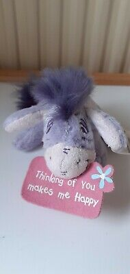£2 • Buy NEW Eeyore Cuddly Soft Toy: Thinking Of You Makes Me Happy…6 Inches