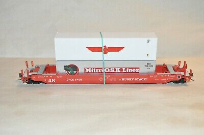 £25.35 • Buy HO Scale Athearn CRLE Lease 48' Husky Stack Containers Well Car Train W/ Load