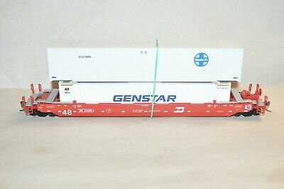 £23.90 • Buy HO Athearn Burlington Northern 48' Husky Stack Containers Well Car Train W/ Load