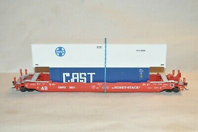 £30.42 • Buy HO Scale Athearn GBRX Lease 48' Husky Stack Containers Well Car Train W/ Load