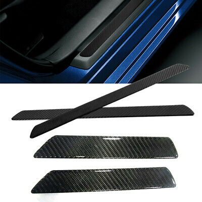 $52.50 • Buy 4x Carbon Fiber Car Door Scuff Plate Sill Cover Panel Step Protector Accessories