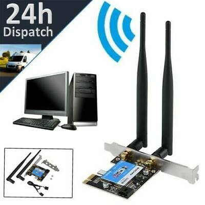 £7.98 • Buy Bluetooth PCI-E WiFi Card 2.4G/5GHz Dual Band Network Adapter For PC