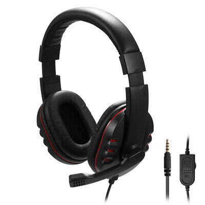 £8.98 • Buy Gaming Headset 3.5mm Wired Headphone Stereo With Microphone For PS4 PC Xbox One