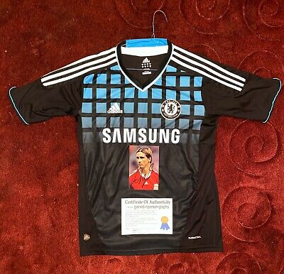 £250.55 • Buy Chelsea Football Shirt Jersey Signed Fernando Torres With COA And Signed Photo