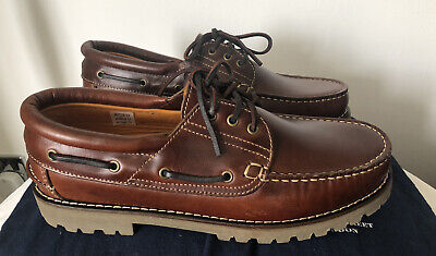 £48 • Buy Charles Tyrwhitt Brown Leather Boat Shoes UK  Size 9.5 Brand New,