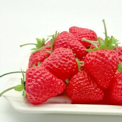 £7.73 • Buy 20xArtificial Strawberry Fake Fruit Display Kitchen Home Food Table Decorations