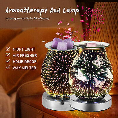 £10.55 • Buy 3D Glass Light Electric Wax Warmer Aroma Touch Night Lamp Oil Burner Diffuser