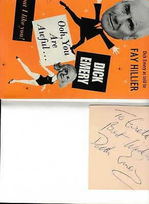 £5.99 • Buy DICK EMERY Book With Autograph